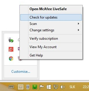 mcafee my account